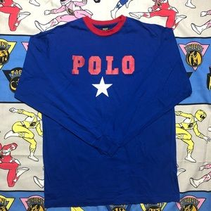 Vintage Polo By Ralph Lauren Star Long Sleeve